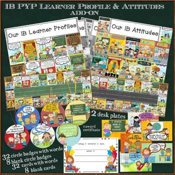 IB PYP Learner Profile & Attitudes Add-on Set for US Paper