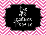 IB/PYP Learner Profile-Chevron Print Background