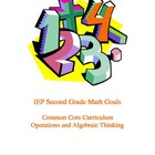 IEP 2nd Gr. Math Goals Common Core Curriculum: Operations