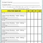 IEP Goals - Individual Goal Sheet