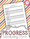IEP Goals Progress Monitoring Sheet