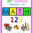 IEP Goals and Activities for Elementary Math Numbers 1-10