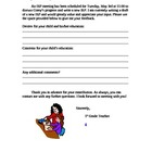 IEP Input Parent Letter