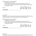 IEP Teacher prep Letter