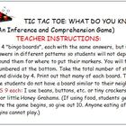 INFERENCE GAME:Tic Tac Toe-What Do You Know?