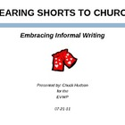 "INFORMAL & CREATIVE WRITING Presentation: ""Wearing Shorts"