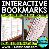 INTERACTIVE BOOKMARKS {Thinkmarks, Annotating Texts, Close
