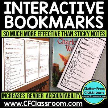 INTERACTIVE BOOKMARKS {Thinkmarks, Annotating Texts, Close Reading, Annotate}
