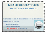 ISTE NETS Checklist Forms: Grades K - 12 with I CAN statements