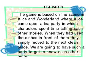 Ice Breaker Tea Party