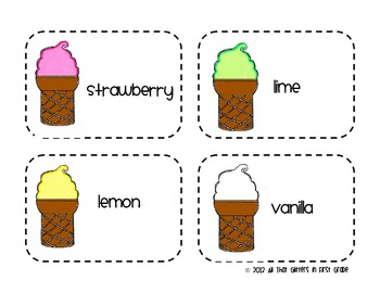Ice Cream {ABC Order}