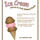 Ice Cream:  Activities for Preschool and Early Childhood