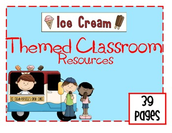 Ice Cream Classroom Theme Set