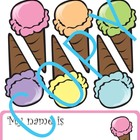 Ice Cream Classroom Theme - customizable