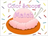 Ice Cream Colors Scoops Match in English and Spanish