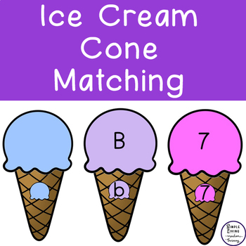Ice Cream Cones Matching Sheets