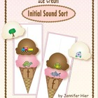 Ice Cream Initial Sound Sort