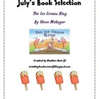 "Ice Cream King "" July Camp Bookworm Selection"""