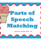 Ice Cream Parts of Speech Matching