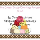 Ice Cream Scoop Counting Posters (1-10)