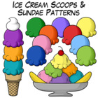 Ice Cream Scoops and Sundae Patterns