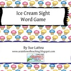Ice Cream Sight Word Matching Game