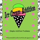 Ice Cream Simple Addition WS