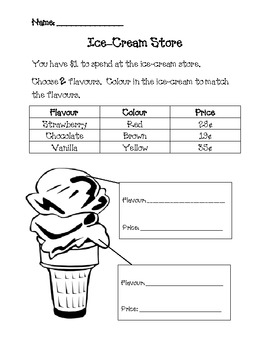 Ice-Cream Store (Culminating Money Task)
