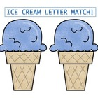 Ice Cream alphabet matching game