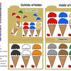 Ice cream match file folder game