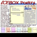 Icebox Poetry Words Vocabulary