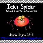 Icky Spider Math & Literacy Common Core Activities