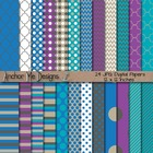 Icy Cold Winter Digital Papers Mega Pack
