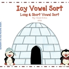 Icy Vowel Sort: Long & Short Vowel Word Sort