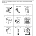 Identify Chemical and Physical Changes Worksheet