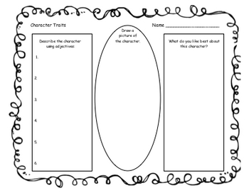 Identify and Illustrate Character Traits - Graphic Organizer
