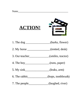 Identifying Action Verbs
