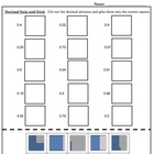 Identifying Decimals Snip & Stick - Math Picture worksheet