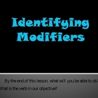 Identifying Modifiers PowerPoint