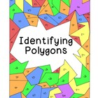 Identifying Polygons Coloring Activity Math Geometry PDF P