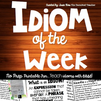 Idiom of the Week- A School Year of Idioms!