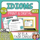 Idioms Task Cards: 32 Multiple Choice Cards for CCS L.4.5