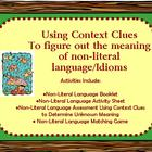 Idioms and Non-Literal Language:  Using Context Clues to D