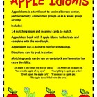 Idioms as Easy as Apple Pie:  Literacy Fun!