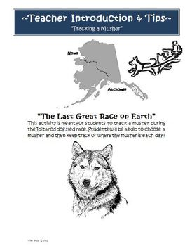 Iditarod Student Packet With Activities and Projects