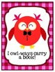 Valentine Owls Love Reading