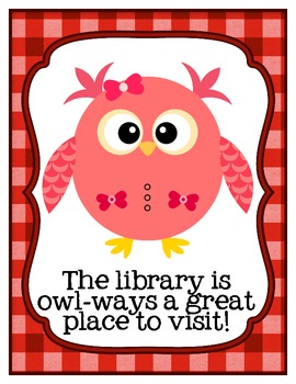 I'll Owl-ways Love Reading Mini-Posters