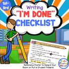 I&#039;m Done Checklist for When Kids Think They Are Done with Writing