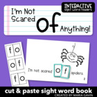 "Interactive Sight Word Reader ""I'm Not Scared OF Anything!"""