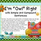 """I'm """"Owl"""" Right with Simple and Compound Sentences"""